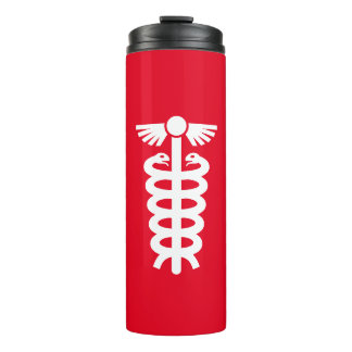 Simply Symbols / Icons - rod of Asclepius + ideas Thermal Tumbler