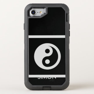 Simply Symbols / Icons - YIN & YANG + ideas OtterBox Defender iPhone 7 Case