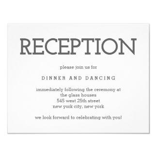 Simply Timeless EDITABLE COLOR Reception Card 11 Cm X 14 Cm Invitation Card