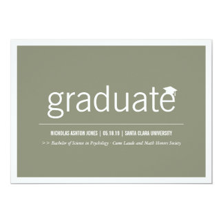 Simply Timeless Modern Graduate Graduation Photo 13 Cm X 18 Cm Invitation Card