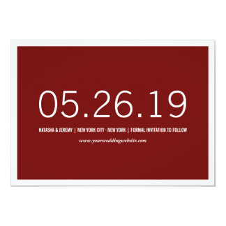 Simply Timeless Modern Save The Date Photo Card 13 Cm X 18 Cm Invitation Card