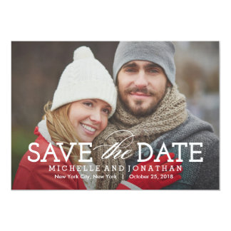 Simply Timeless Photo Save The Date Card 13 Cm X 18 Cm Invitation Card