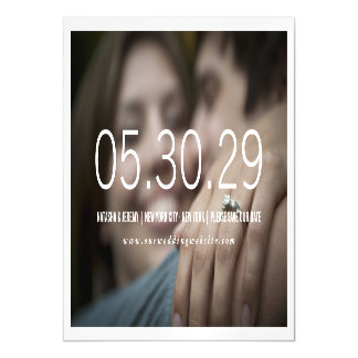 Simply Timeless Save The Date Photo Magnetic Magnetic Invitations