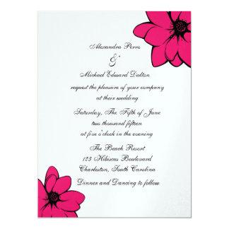 Simply Tropical Flowers On Ice 17 Cm X 22 Cm Invitation Card
