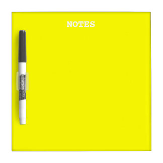 Simply Yellow Solid Color Dry Erase Whiteboards