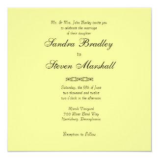 Simply Yellow Wedding Invitation