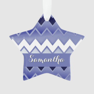 Simply ZigZag-navy Blue Ornament