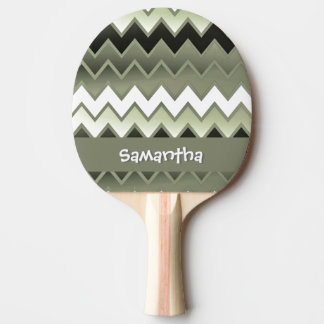 Simply ZigZag – Olive Green Ping Pong Paddle