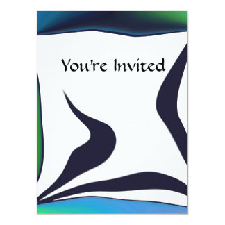 "SimplyTonjia Zany Frame Invitation 6.5"" X 8.75"" Invitation Card"