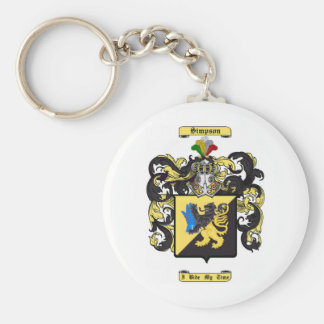 simpson basic round button key ring
