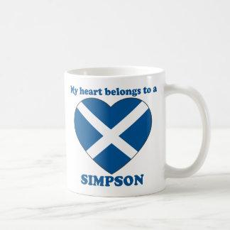 Simpson Basic White Mug