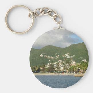 Simpson Bay St. Maarten Basic Round Button Key Ring