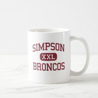 Simpson - Broncos - High - Simpson Louisiana Coffee Mugs