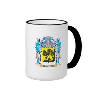 Simpson Coat of Arms - Family Crest Ringer Coffee Mug