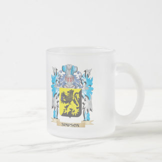 Simpson Coat of Arms - Family Crest Frosted Glass Mug