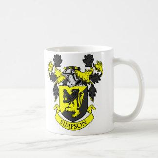 SIMPSON Coat of Arms Coffee Mug
