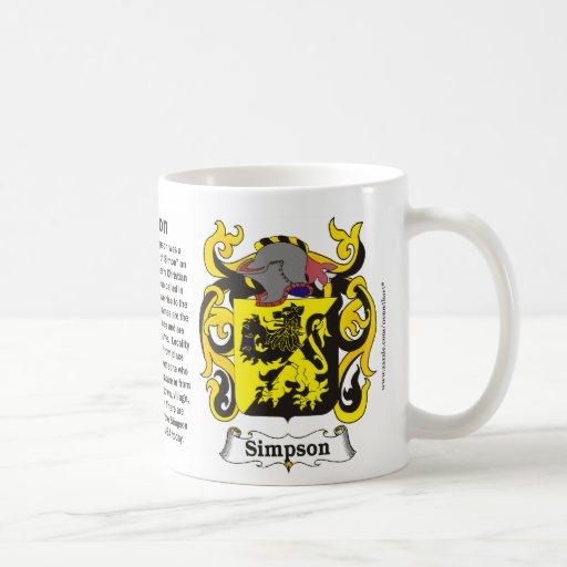 Simpson Family Coat of Arms Mug