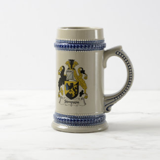 Simpson Family Crest Beer Steins