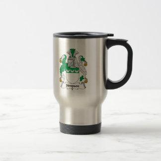 Simpson Family Crest Coffee Mug