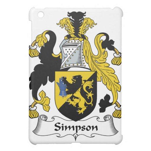 Simpson Family Crest iPad Mini Case