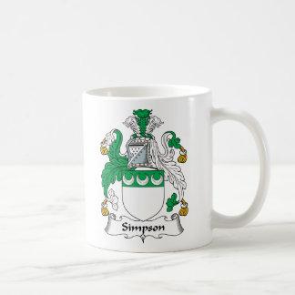 Simpson Family Crest Basic White Mug