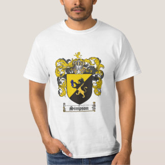 Simpson Family Crest - Simpson Coat of Arms T-Shirt