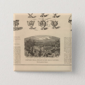 Simpson, Hall, Miller and Traveler's Company 15 Cm Square Badge