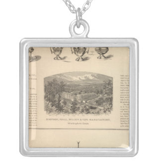 Simpson, Hall, Miller and Traveler's Company Silver Plated Necklace