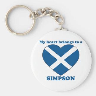 Simpson Keychain