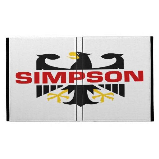 Simpson Surname iPad Folio Cover
