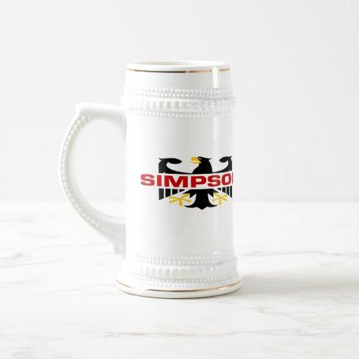 Simpson Surname Coffee Mugs