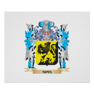 Sims Coat of Arms - Family Crest Poster