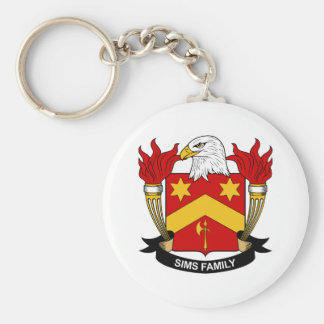 Sims Family Crest Key Chain