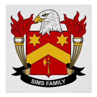 Sims Family Crest Print