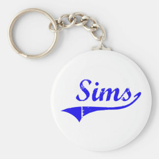 Sims Surname Classic Style Key Chain