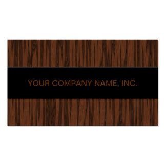 Simulated Walnut Business Cards