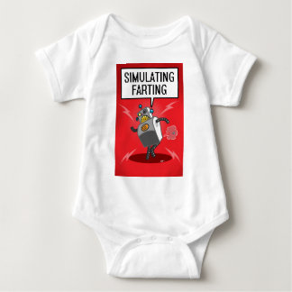 Simulating Farting Baby Bodysuit