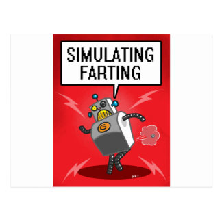 Simulating Farting Postcard