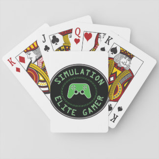 Simulation Elite Gamer Playing Cards