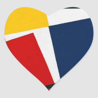 Simultaneous Counter Composition Theo van Doesburg Heart Sticker