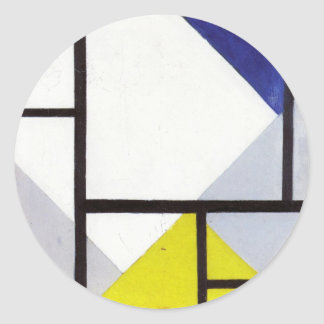 Simultaneous Counter Composition Theo van Doesburg Round Sticker