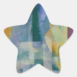 Simultaneous Windows by Robert Delaunay Star Sticker