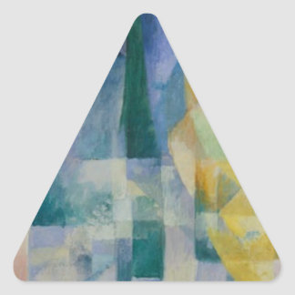 Simultaneous Windows by Robert Delaunay Triangle Sticker