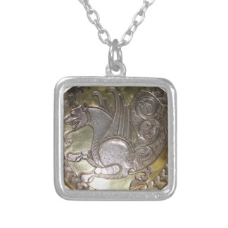 Simurgh Silver Plated Necklace