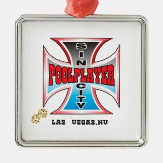 Sin City Pool Player Christmas Ornament