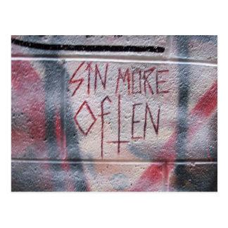 Sin More Often Postcard