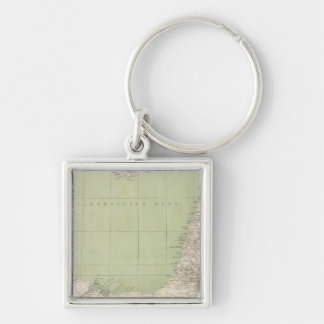 Sinai, Egypt, Syria Atlas Map Key Ring