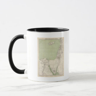 Sinai, Egypt, Syria Atlas Map Mug
