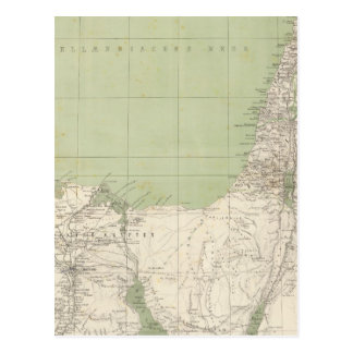Sinai, Egypt, Syria Atlas Map Postcard