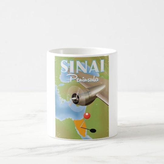 Sinai Peninsula Flight travel poster Coffee Mug